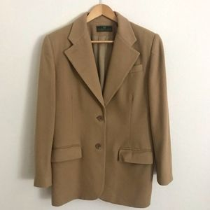 Vintage EMBASSY ROW Camel Tan Wool Blend Blazer